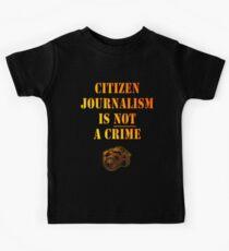 Citizen Journalism is NOT a crime Kids Clothes