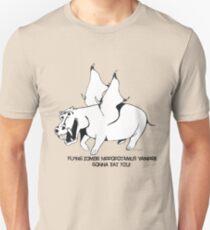 Flying Zombie Hippopotamus Vampire Unisex T-Shirt