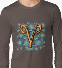 Aries Astrological Sign [1] Long Sleeve T-Shirt