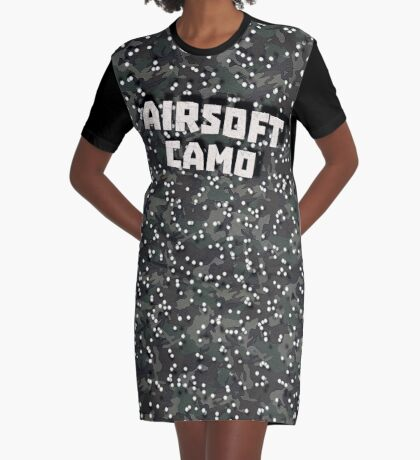 Airsoft Camo Graphic T-Shirt Dress