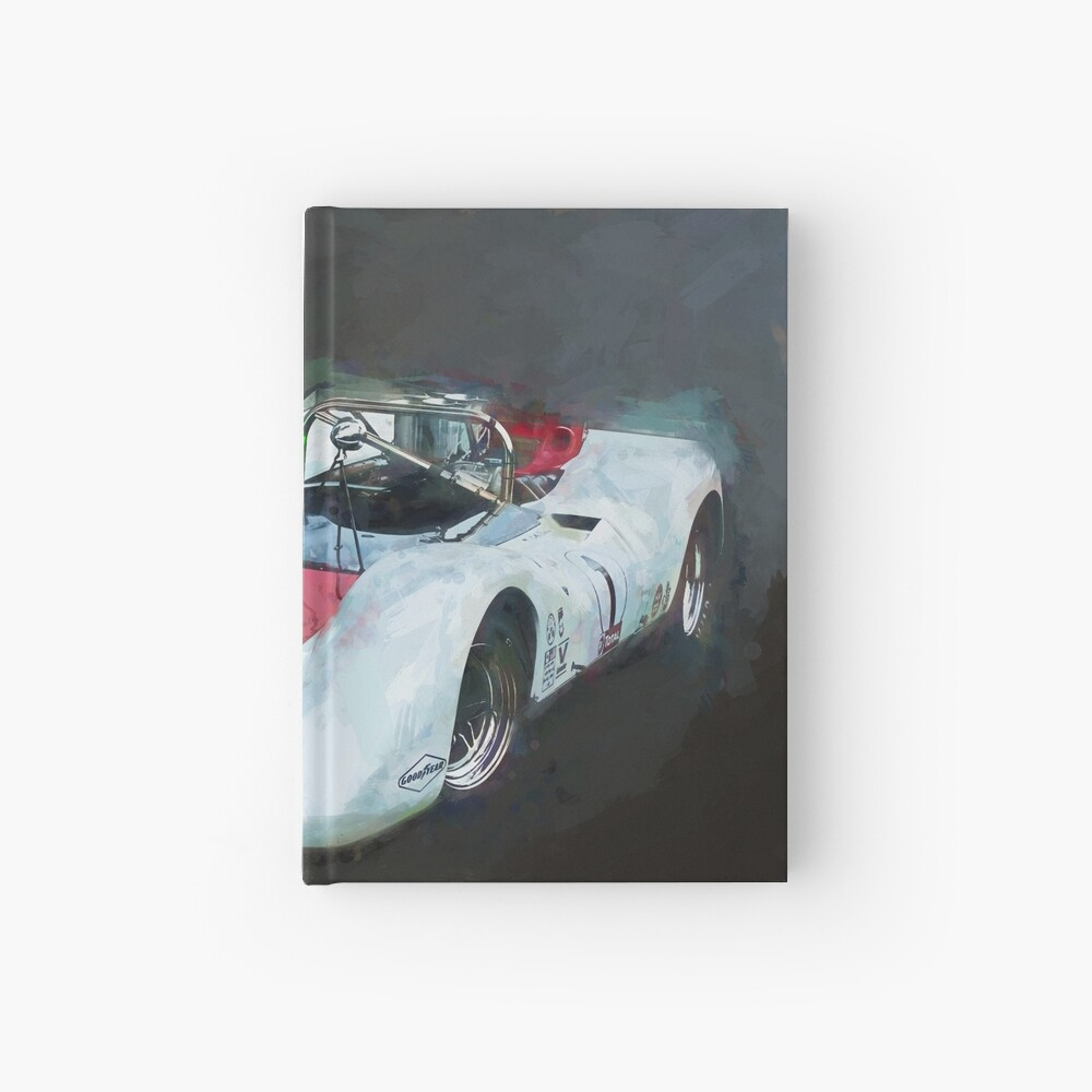 White Can-Am Lola T160 Hardcover Journal