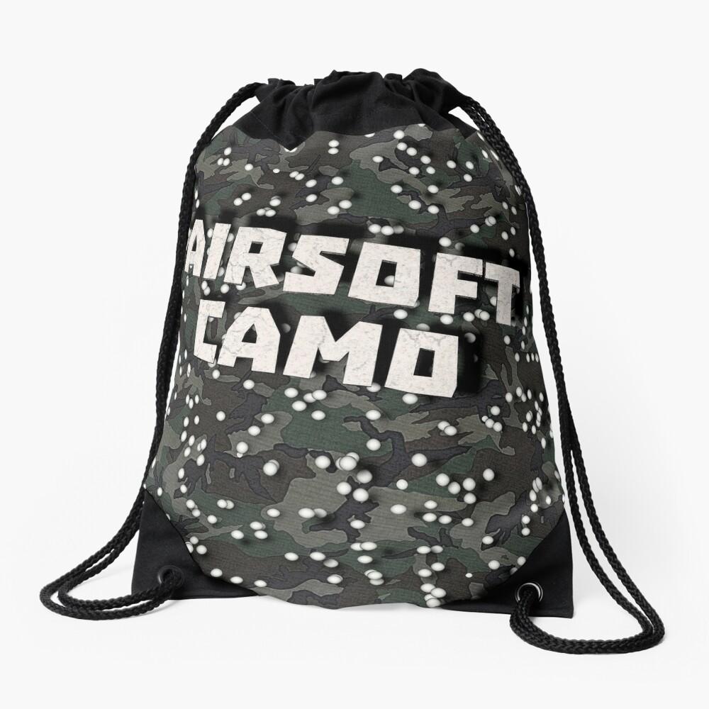 Airsoft Camo Drawstring Bag