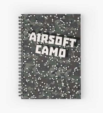 Airsoft Camo Spiral Notebook