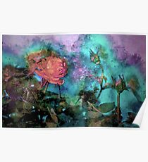 Flowered Paint Poster