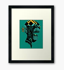 Graffiti doodle - creature's head 3 Framed Print