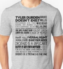 Classic Movie Spoilers Graphic Design Unisex T-Shirt