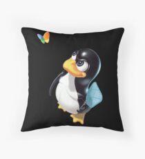 Penguin Linux Throw Pillow