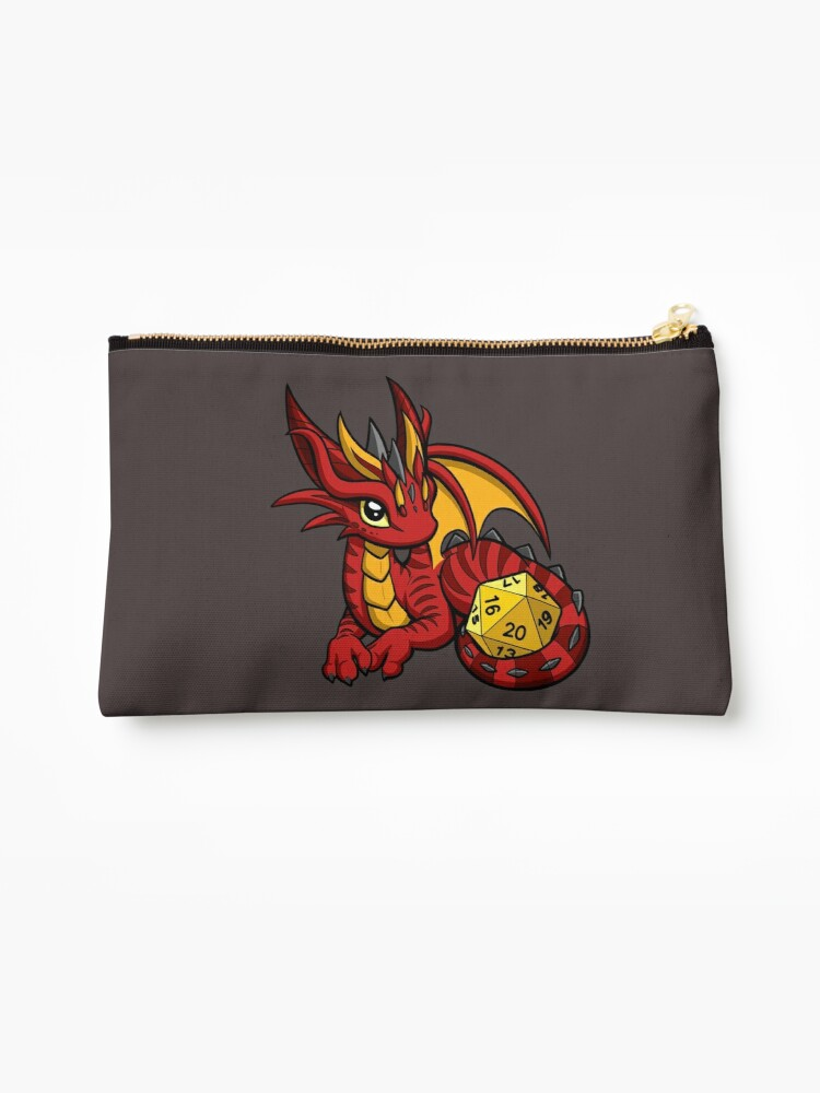 Red and Gold Dice Dragon by Rebecca Golins