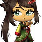 Story of Seasons: Trio of Towns - Kasumi Sticker by KiwisCornerArt