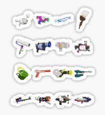 Splatoon 8-Bit Weapons Sticker