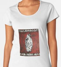 Tribal Penguin  Women's Premium T-Shirt