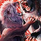 Fighting Lions by Kasey Snow