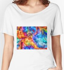 Bright color abstract background Women's Relaxed Fit T-Shirt