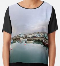 Hurry Head Harbour, Carnlough, County Antrim Chiffon Top