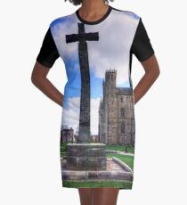 Light Infantry Memorial Cross Graphic T-Shirt Dress