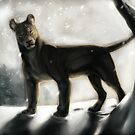 Lioness in the Snow by Kasey Snow
