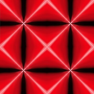 Red Geometric Pattern by DigitalShmo