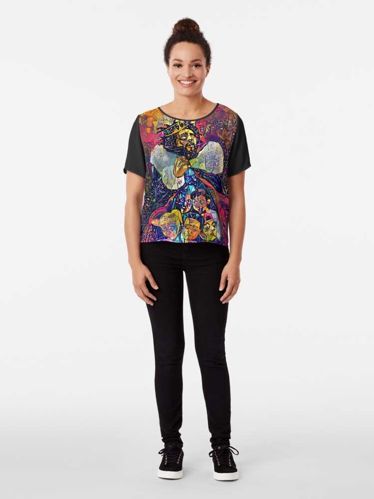 Alternate view of Abstract KOD Chiffon Top