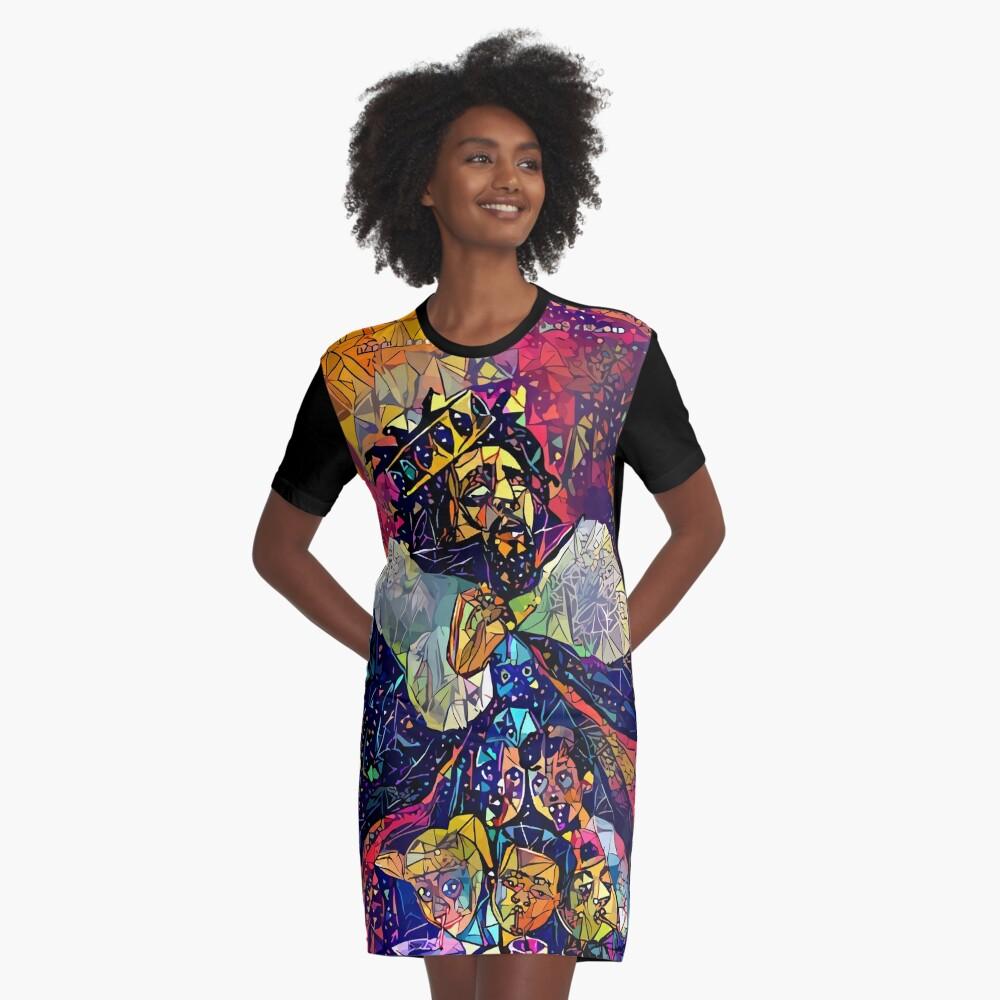 Abstract KOD Graphic T-Shirt Dress