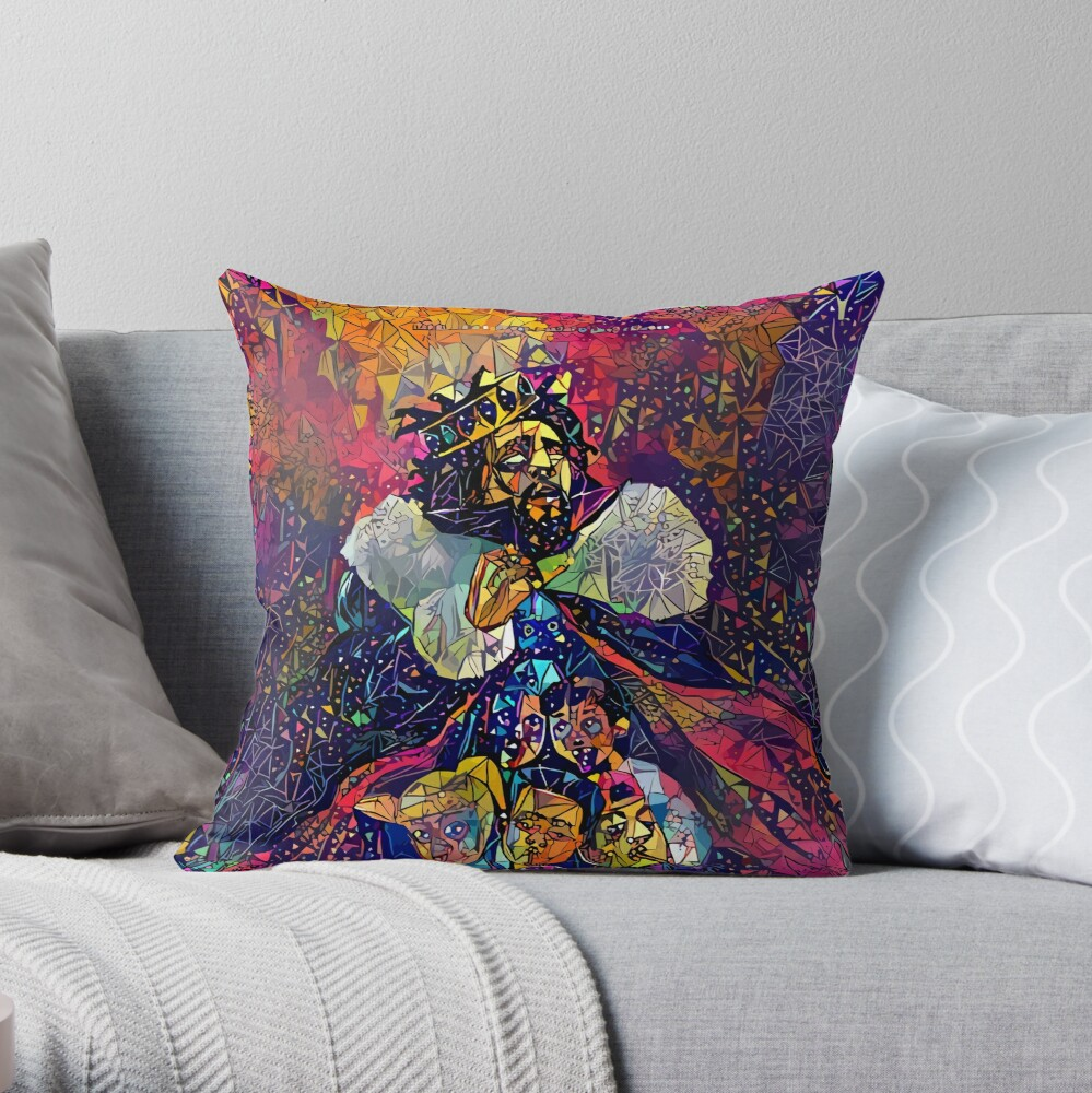 Abstract KOD Throw Pillow
