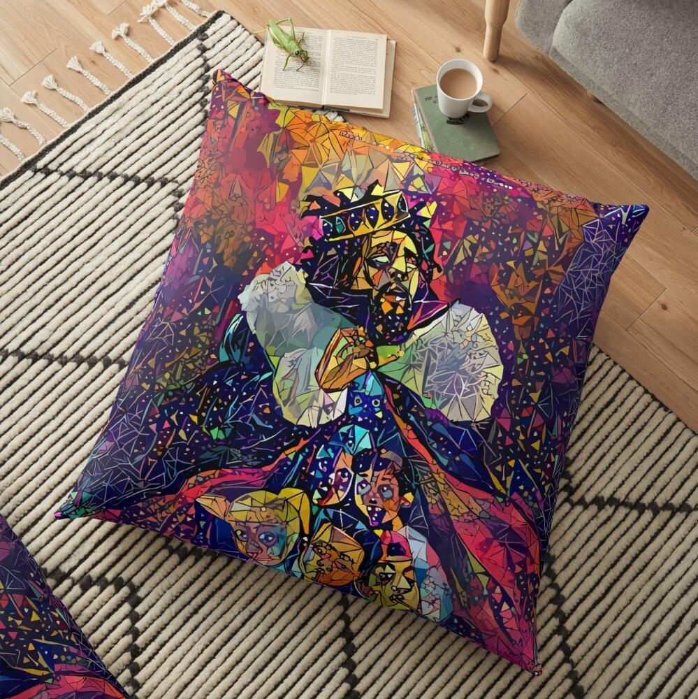 Abstract KOD Floor Pillow