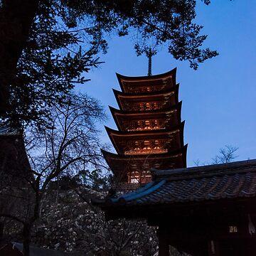 Golden Pavilion, Miyajima, Japan by mariocassar
