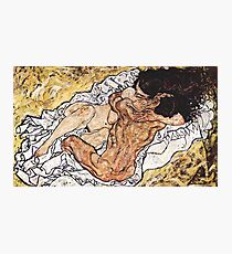 HD The Embrace, by Egon Schiele 1917 - HIGH DEFINITION Photographic Print