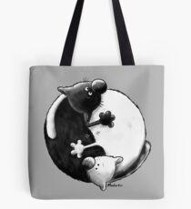Yin and Yang Cats Tote Bag
