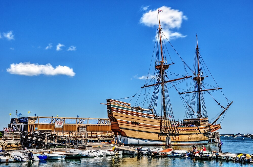 Mayflower II on a perfect day....Plymouth  by Poete100