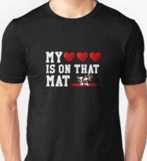 cf9fb6ab My heart is on that mat | wrestling shirt | wrestling gifts | wrestling  player t