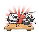 Sushi Samurai Schlacht von Beka Designs