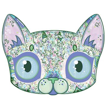 Chromatic Cat III (Green, Blue, Pink) by vanillakirsty