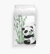 Funda nórdica Panda comiendo bambú