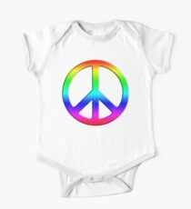 Rainbow Peace Sign Kids Clothes