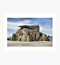 Lookout tower, Bateria de Cenizas, Costa Calida, Spain  Art Print