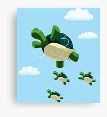 Flying Turtles Canvas Print