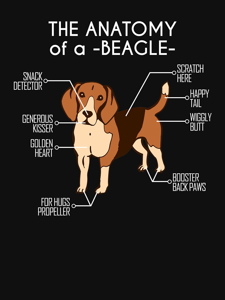 Anatomie eines Beagle-T-Shirts von kenifeh