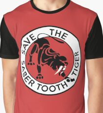 Saber Tooth Tiger Big Cat Conservation Graphic T-Shirt