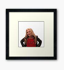 Lindsay Bluth Slut Framed Print
