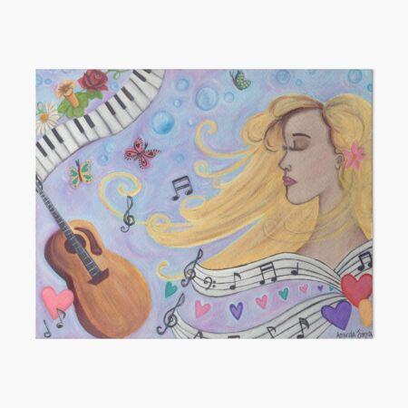 She Dreams in Music Art Board Print