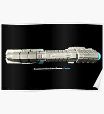 8 Bit Pixel Spaceship Dreadnought Class Space Carrier - Plusllian Poster