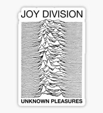 unknown joy pleasure division Sticker