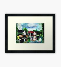 On The Riverfront Framed Print