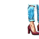 Red heels 'n' jeans by Elza Fouche