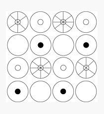 Kreise in einem Raster Fotodruck