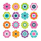 Mod Flowers - Spring Colors by daisy-beatrice