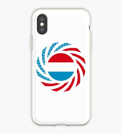 Luxembourgish American Multinational Patriot Flag Series iPhone Case