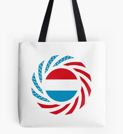 Luxembourgish American Multinational Patriot Flag Series Tote Bag
