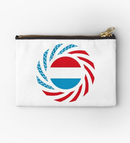 Luxembourgish American Multinational Patriot Flag Series Zipper Pouch