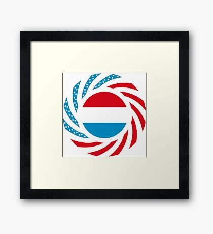 Luxembourgish American Multinational Patriot Flag Series Framed Print